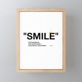 """""""SMILE"""" Framed Mini Art Print"""