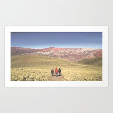 Painted Mountains Art Print