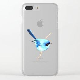 Australian ~ Blue Fairy-wren Clear iPhone Case