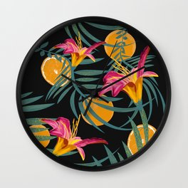Plants Flowers and Your Orange Fruit Wall Clock