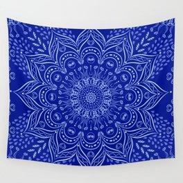 Blue Boho Mandala Wall Tapestry