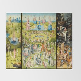 The Garden of Earthly Delights by Bosch Throw Blanket