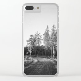 Night in the woods | Jamtland, Northern Sweden Clear iPhone Case