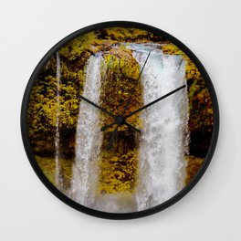 Koosah Falls Autumn Wall Clock