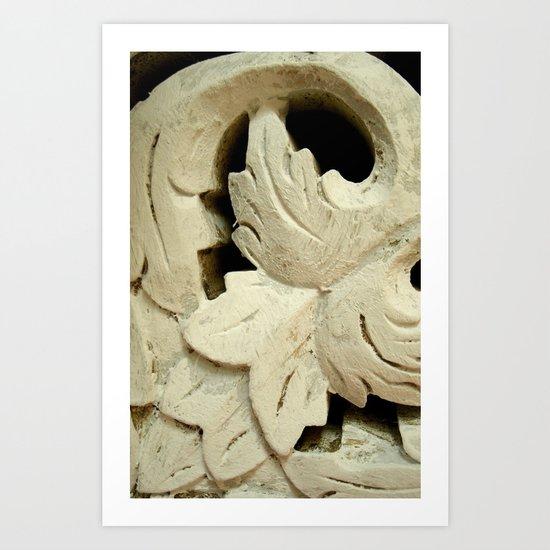 Carved wood II Art Print