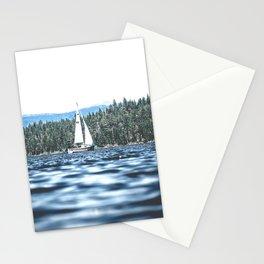 Calm Lake Sailboat Stationery Cards
