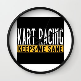 Kart Racing Lover Gift Idea Design Motif Wall Clock