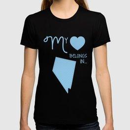 My Heart Belongs in Nevada T-shirt