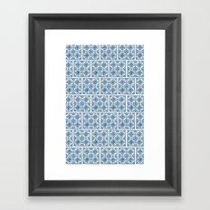 Blue Tile Pattern No. 3 Framed Art Print