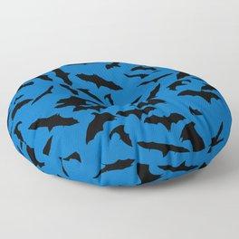 Bats Nebulas Blue Floor Pillow