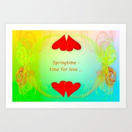 Springtime - time for love (day) ... Art Print