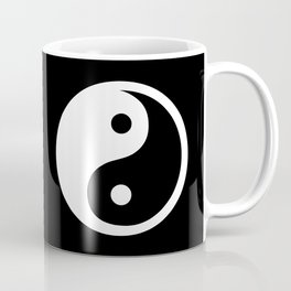 Yin Yang Black White Coffee Mug