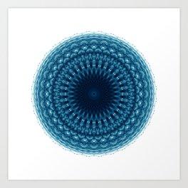 Mandala of Quantum Abundance (blue) Art Print