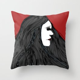 March of The Black Queen Throw Pillow