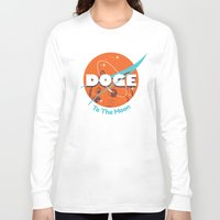 nasa Long Sleeve T-shirts featuring Doge Nasa Variant (To The Moon!) by Tabner's