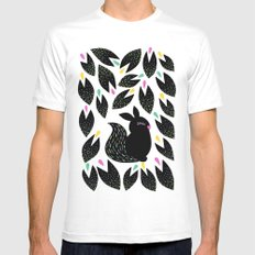 Fairytale forest White MEDIUM Mens Fitted Tee