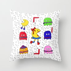 Winter game Throw Pillow
