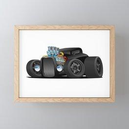 Hot Custom Black Street Rod Coupe Framed Mini Art Print