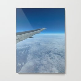 Airplane Wing In-Flight Metal Print