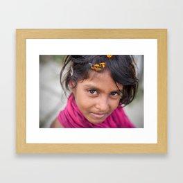 Slum Flower Framed Art Print