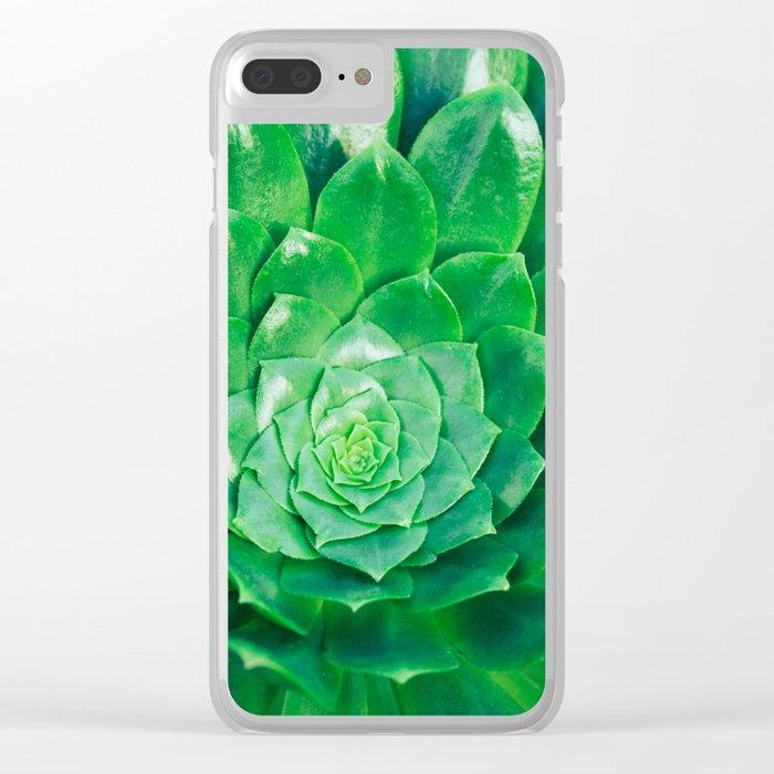 Botanical Gardens - Succulent #686 Clear iPhone Case