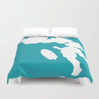 ponyo Duvet Covers featuring STUDIO GHIBLI'S PONYO by The Fugu Project