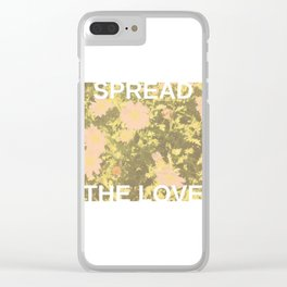 Spread the Love Clear iPhone Case