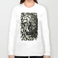 dark Long Sleeve T-shirts featuring Skull by Ali GULEC
