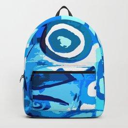 Blue lagoon - plava laguna - water abstration Backpack
