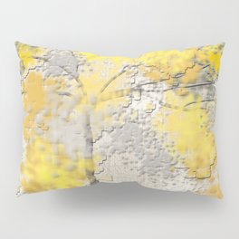 Abstract Yellow and Gray Trees Pillow Sham