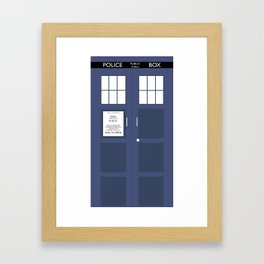 Smaller On The Outside Tardis Framed Art Print