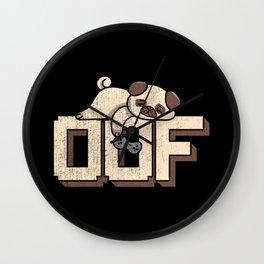 Oof Gamer Meme - Noob Gamer Pug Gift Wall Clock