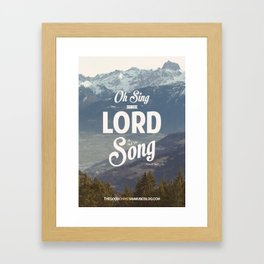 Psalm 96:1 Framed Art Print