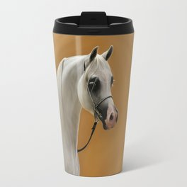 Digital Painting of an arabian horse Travel Mug