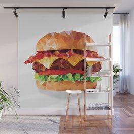 Geometric Bacon Cheeseburger Wall Mural