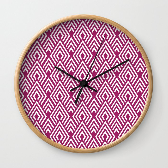 Marsala Diamond Pattern Wall Clock