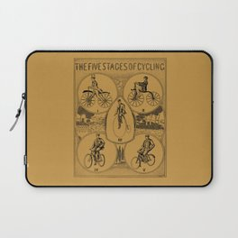 The five stages of cycling (bicycle history) Laptop Sleeve