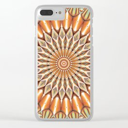 Heart of the Sunflower - Mandala Art Clear iPhone Case