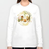 lady gaga Long Sleeve T-shirts featuring Animal Chants & Forest Whispers by Teagan White
