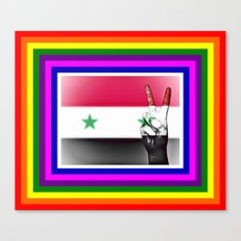 Syria World Peace Flag Canvas Print