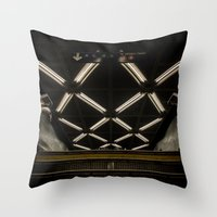 subway Throw Pillows featuring SUBWAY by paulmhoward