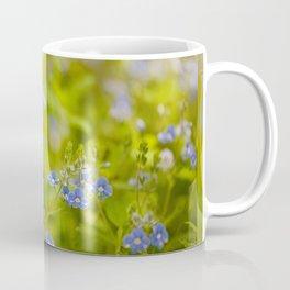 Beautiful blue speedwell flowerets Coffee Mug