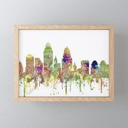 Cincinnati, Ohio Skyline SG - Faded Glory Framed Mini Art Print