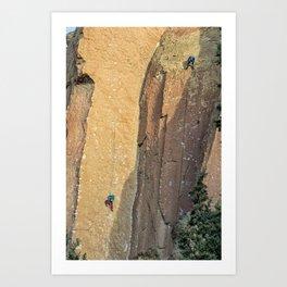 Rock Climbing At Smith Rock, No. 2 Art Print