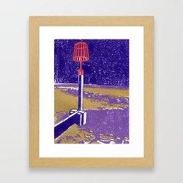 Seaview Fire Beacon in Purple Framed Art Print