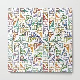 Idaho Tetris Painting Metal Print