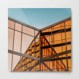 Orange & Blue Metal Print
