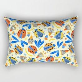 Ladybug Botanical  Rectangular Pillow