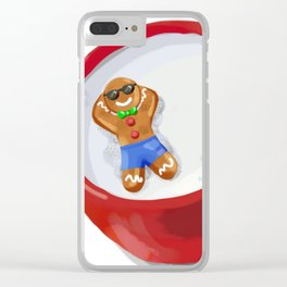 Gingerbread Man Clear iPhone Case