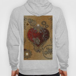 Steampunk, awesome heart Hoody
